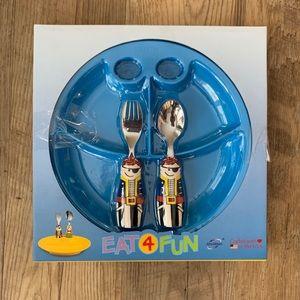 Eat 4 Fun Pirate Fork & Spoon & Plate Set